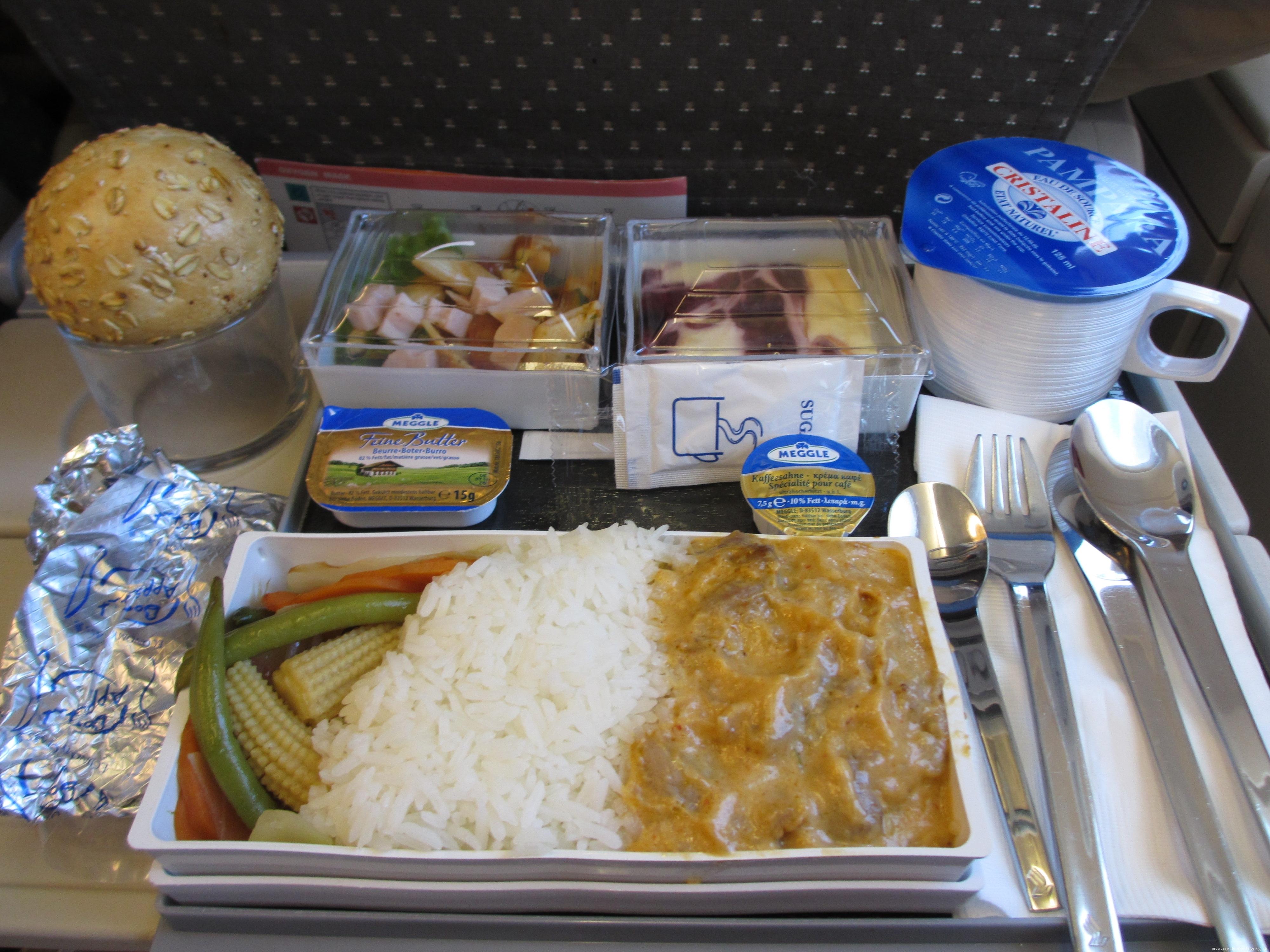 bordverpflegung singapore airlines essen mittagessen frankfurt main nach new york jfk ny. Black Bedroom Furniture Sets. Home Design Ideas