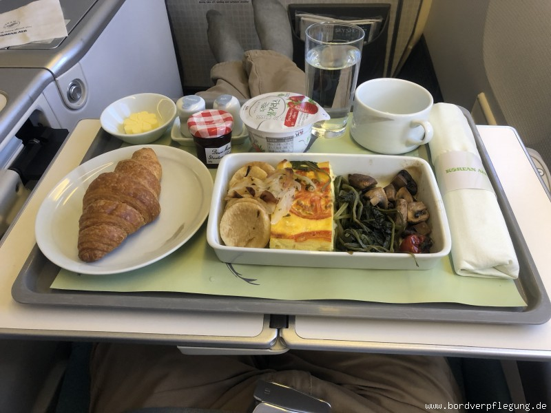 Mittagessen bei Korean Air in der Business Class