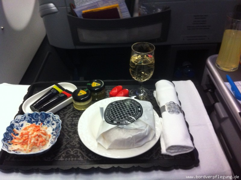Snack bei KLM in der Business Class