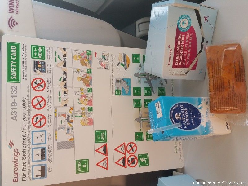 Snack bei Eurowings in der PremiumEco Class